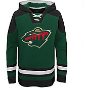 NHL Youth Minnesota Wild Ageless Green Pullover Hoodie