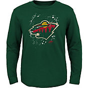 NHL Youth Minnesota Wild Decon Green Long Sleeve Shirt