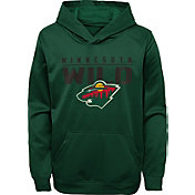 NHL Youth Minnesota Wild Pacesetter Green Pullover Hoodie