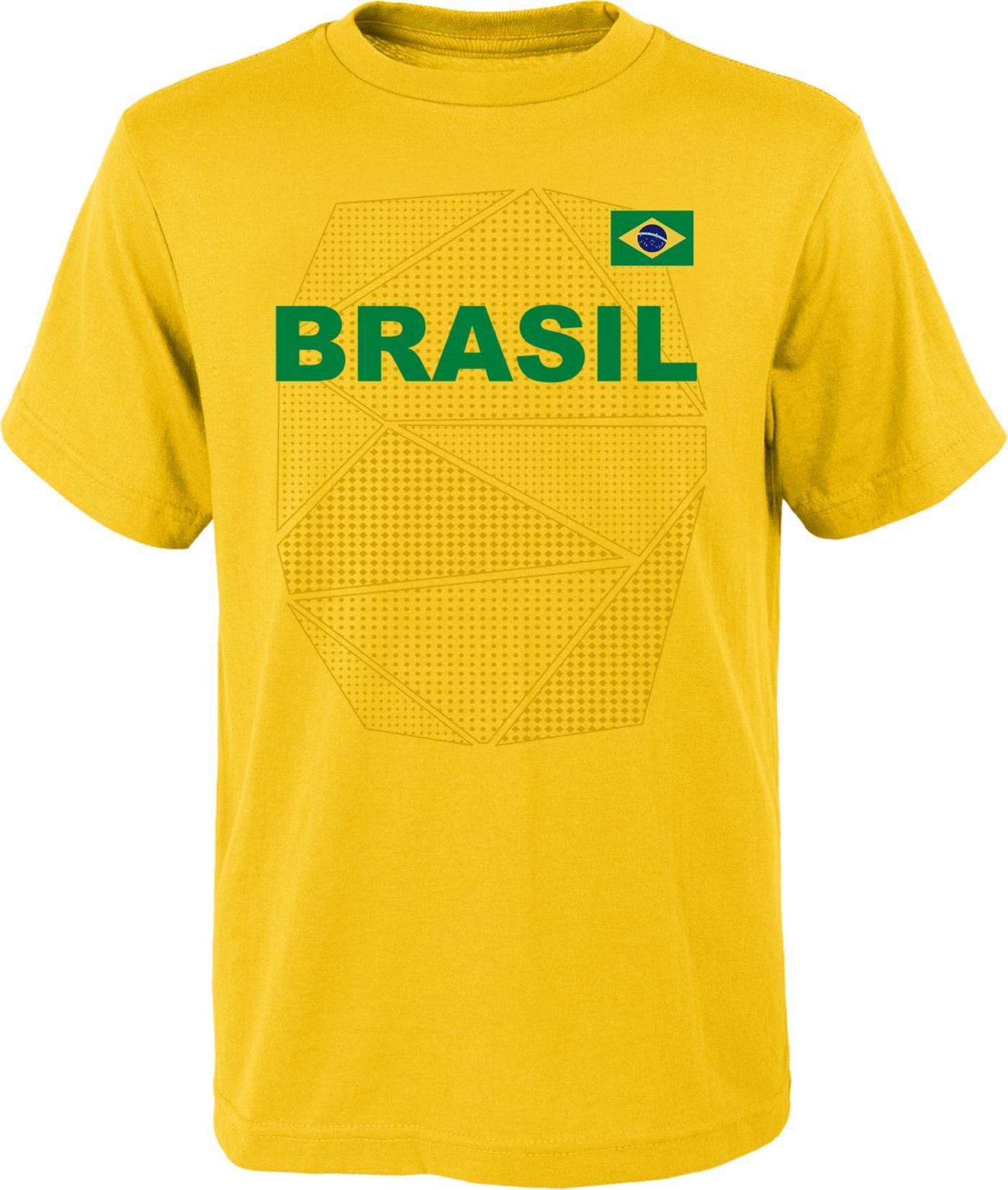 Outerstuff Youth Brazil Penalty Kick Yellow T-Shirt