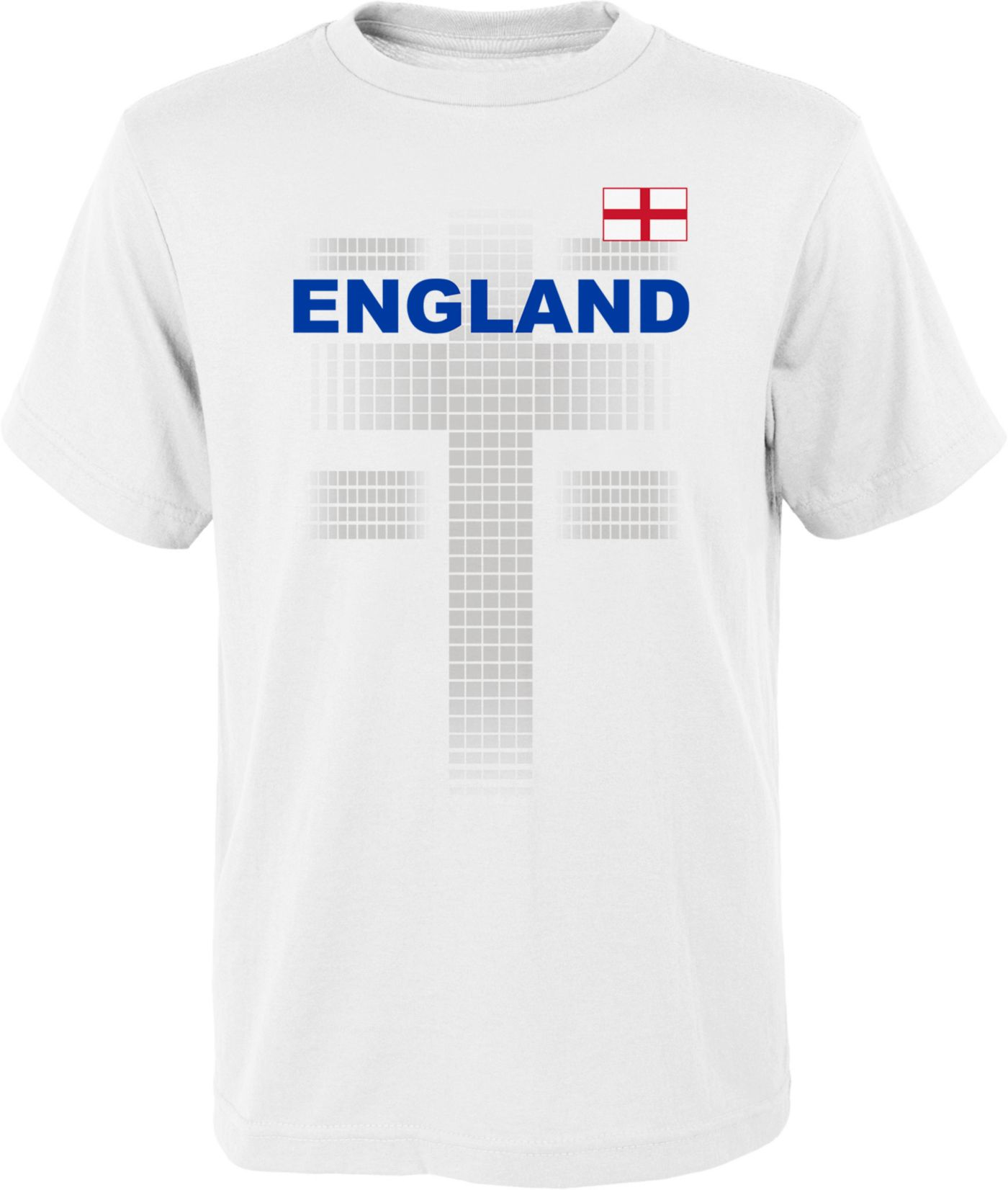 Outerstuff Youth England One Team White T-Shirt