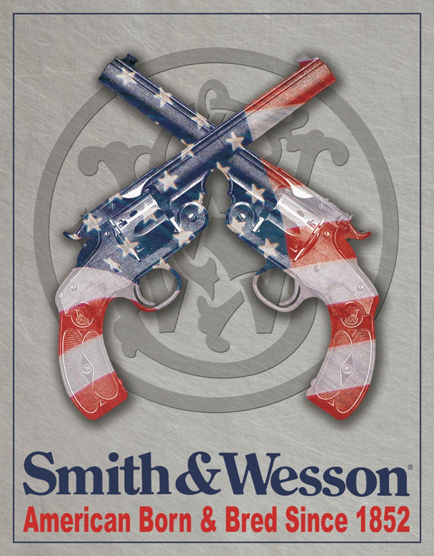 Smith & Wesson American Born Tin Sign