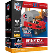 OYO Super Bowl LIII Champions New England Patriots Helmet Cart Figurine Set
