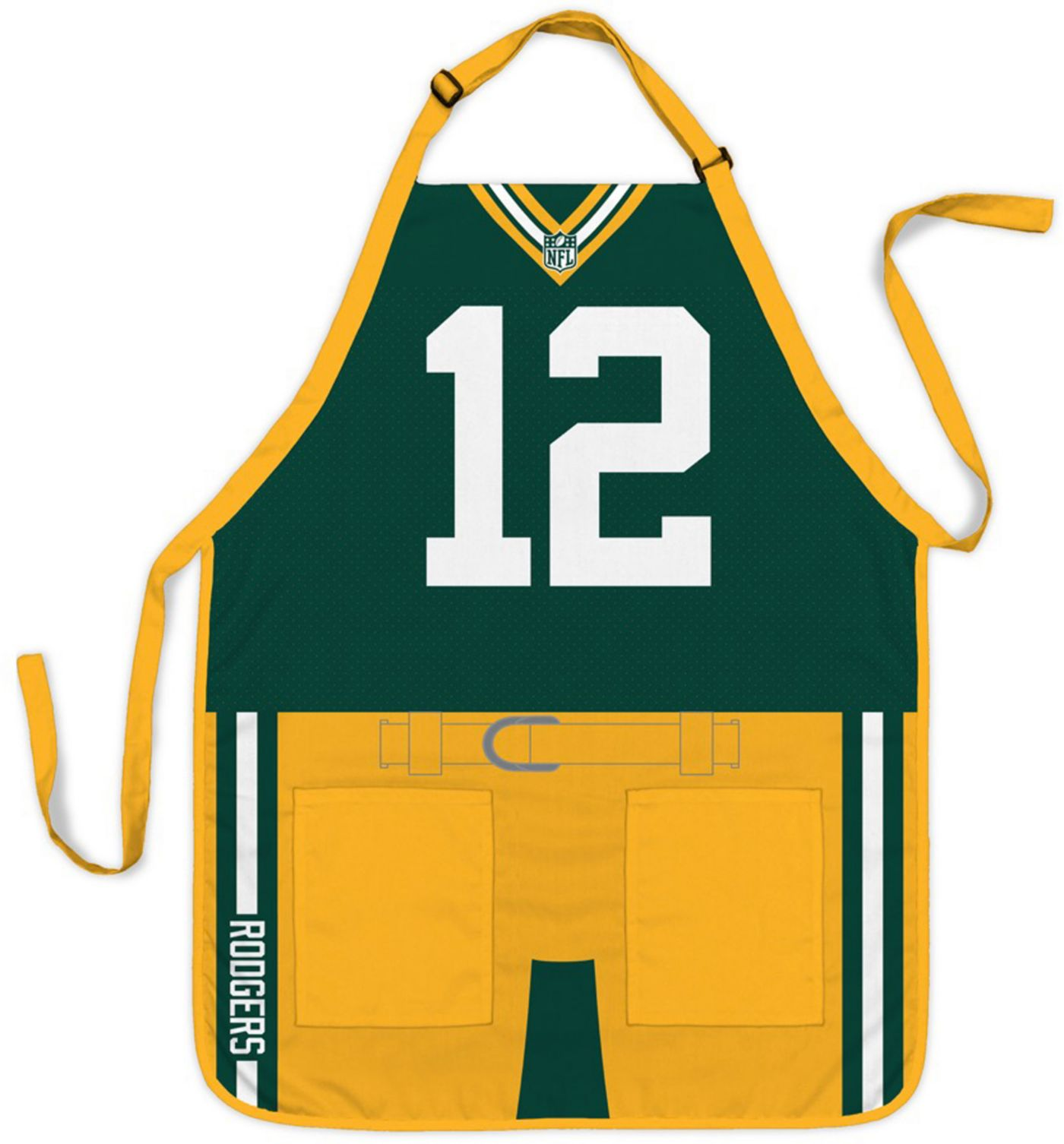 Party Animal Green Bay Packers Aaron Rodgers #12 Uniform Apron