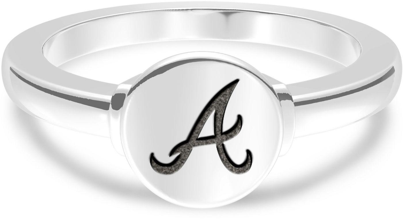 Bixler Atlanta Braves Engraved Geometric Ring
