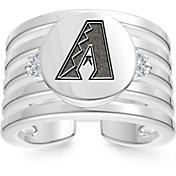 Bixler Arizona Diamondbacks Logo Engraved Multi-band Cuff Ring