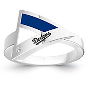 Bixler Los Angeles Dodgers Diamond Engraved Geometric Ring