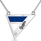 Bixler Los Angeles Dodgers Diamond Engraved Geometric Necklace