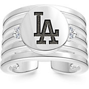 Bixler Los Angeles Dodgers Logo Engraved Multi-band Cuff Ring