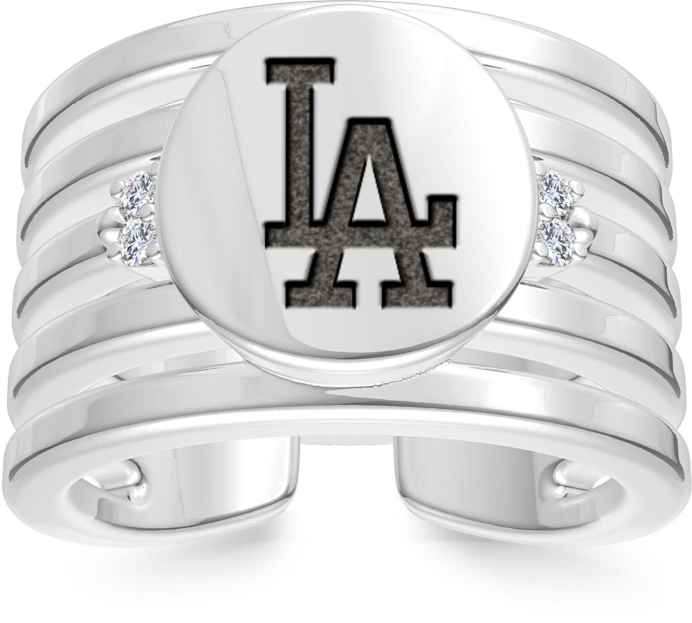 Bixler Los Angeles Dodgers Logo Engraved Multi-band Cuff Ring