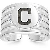 Bixler Cleveland Indians Logo Engraved Multi-band Cuff Ring