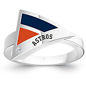 Bixler Houston Astros Diamond Engraved Geometric Ring