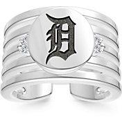 Bixler Detroit Tigers Logo Engraved Multi-band Cuff Ring