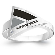 Bixler Chicago White Sox Diamond Engraved Geometric Ring