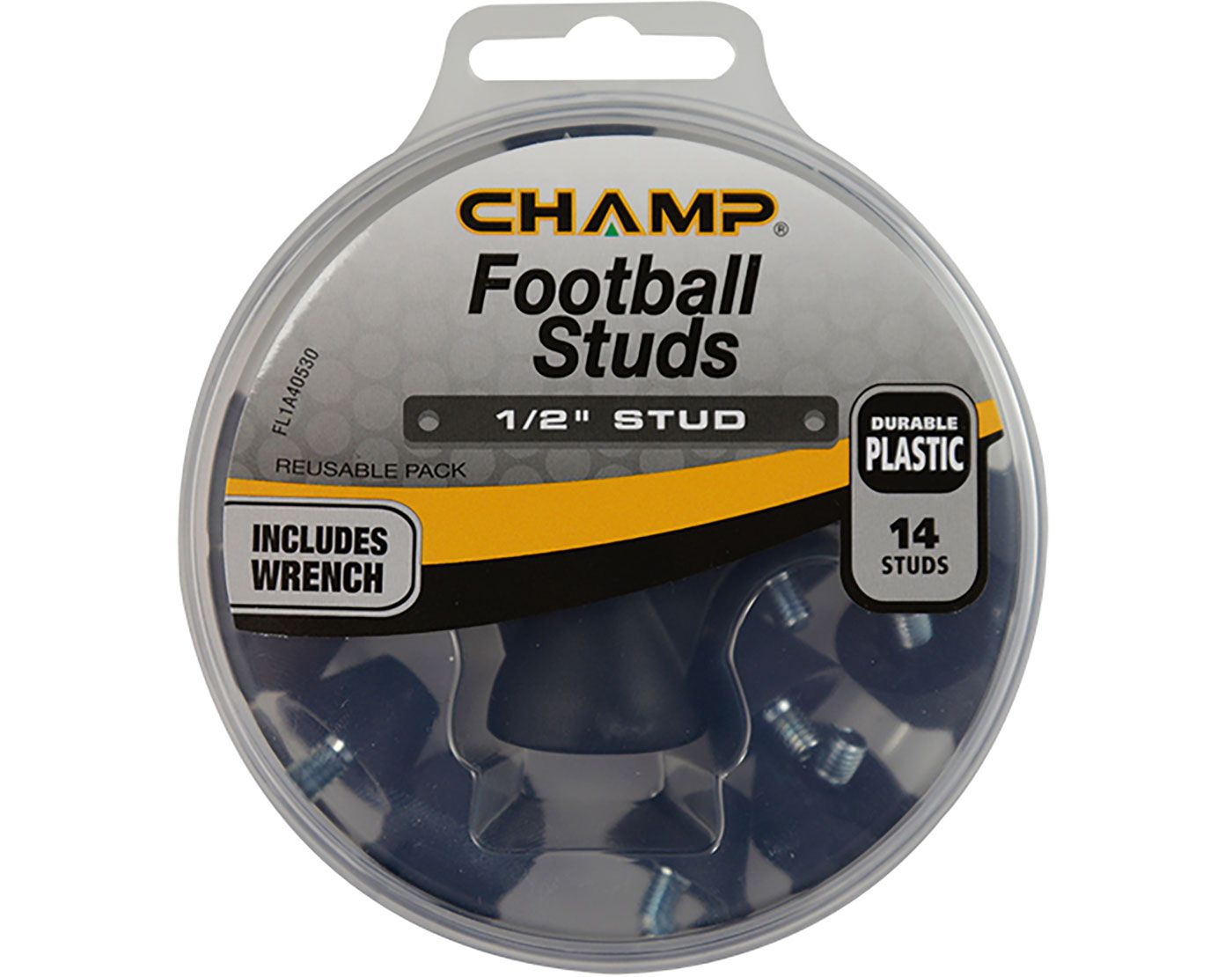 "CHAMP 1/2"" Plastic Football Replacement Spikes"