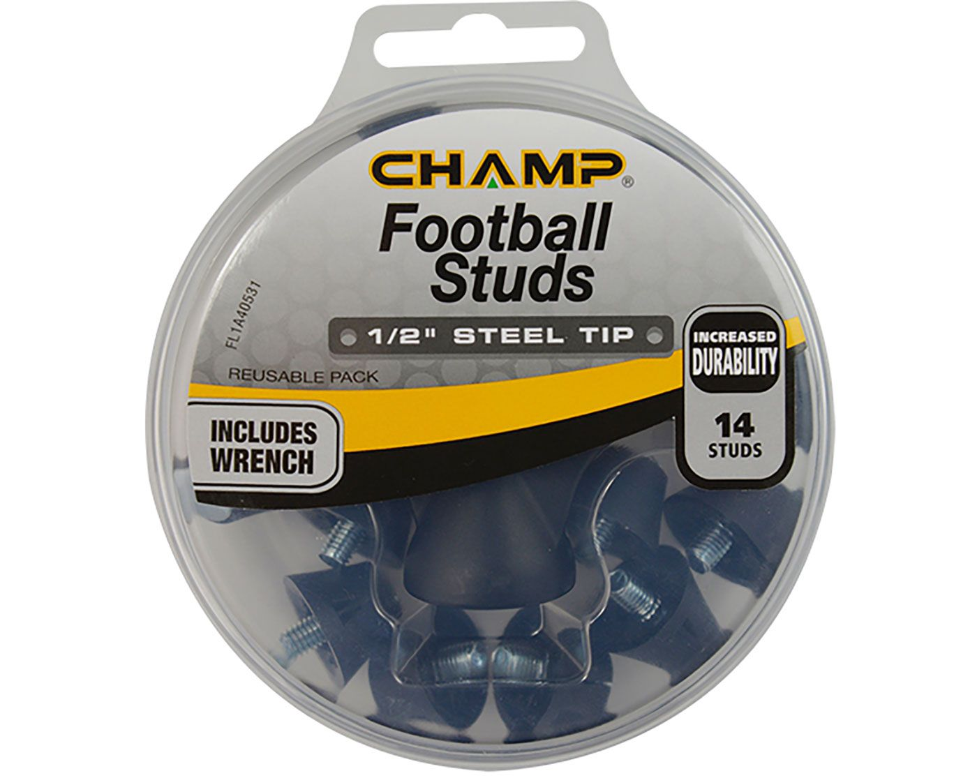 """CHAMP 1/2"""" Steel Tip Football Replacement Spikes"""