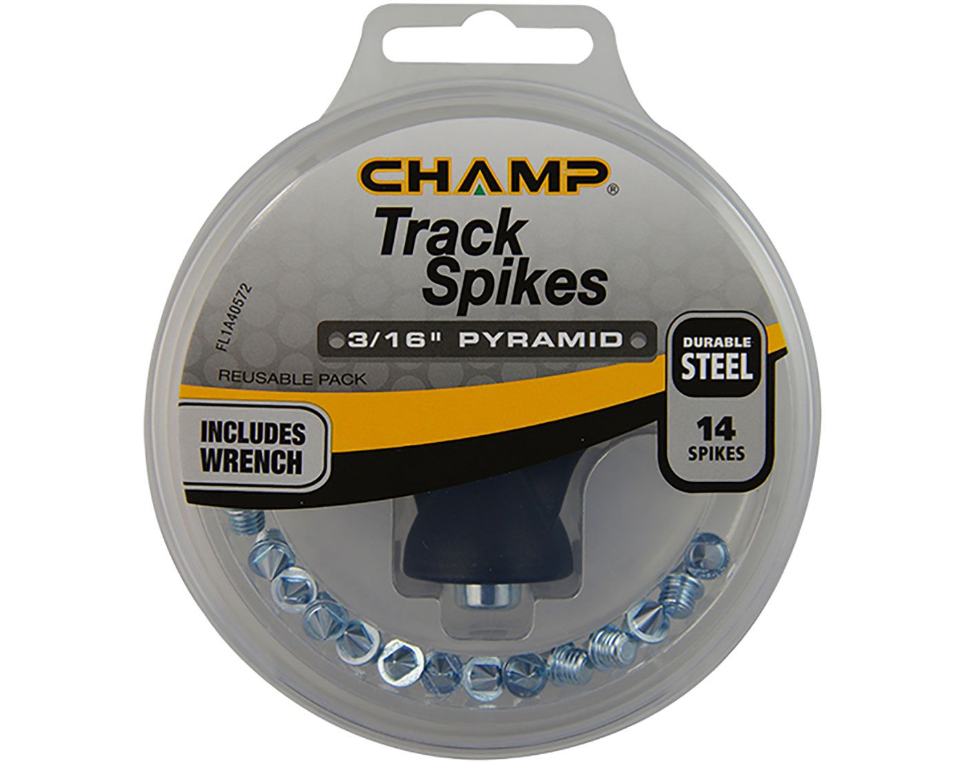 """CHAMP 3/16"""" Steel Pyramid Replacement Track Spikes"""