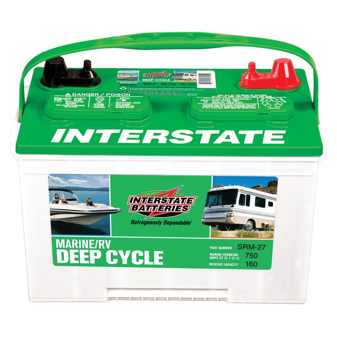 Interstate Batteries SRM-27 Marine/RV Deep Cycle Battery | Field ...
