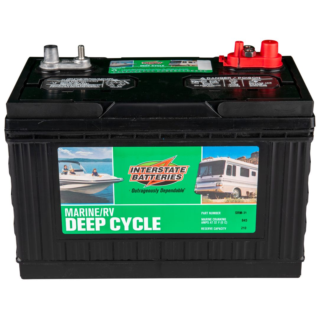 Interstate Deep Cycle Marine Battery >> Interstate Batteries Srm 31 Marine Rv Deep Cycle Battery