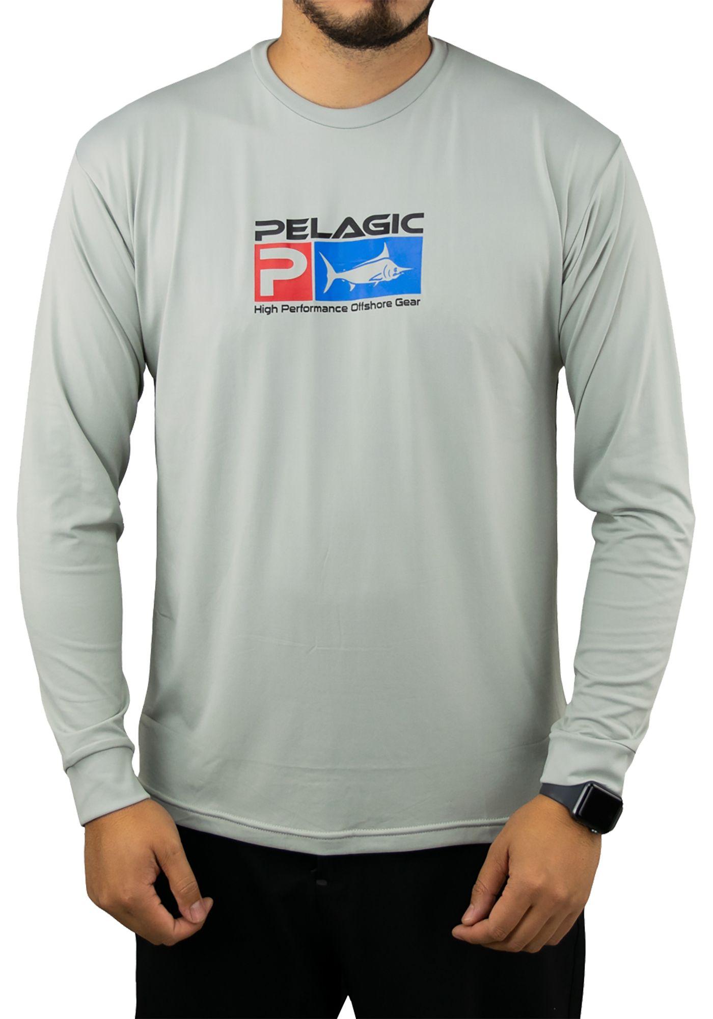 Pelagic Men's Aquatek Long Sleeve Performance Fishing Shirt
