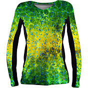 Pelagic Women's Solar Pro Hex Dorado Long Sleeve V-Neck Shirt