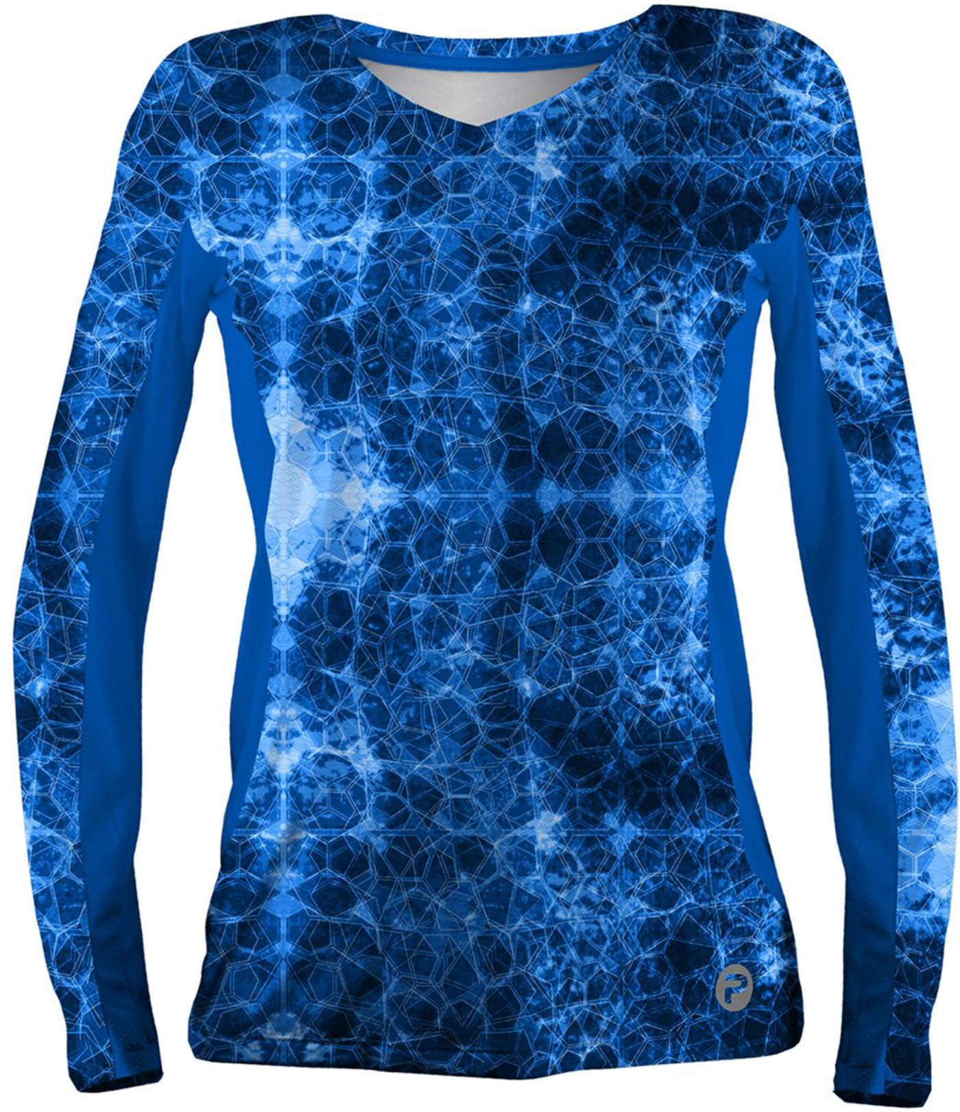 Pelagic Women's Solar Pro Hex Long Sleeve V-Neck Shirt