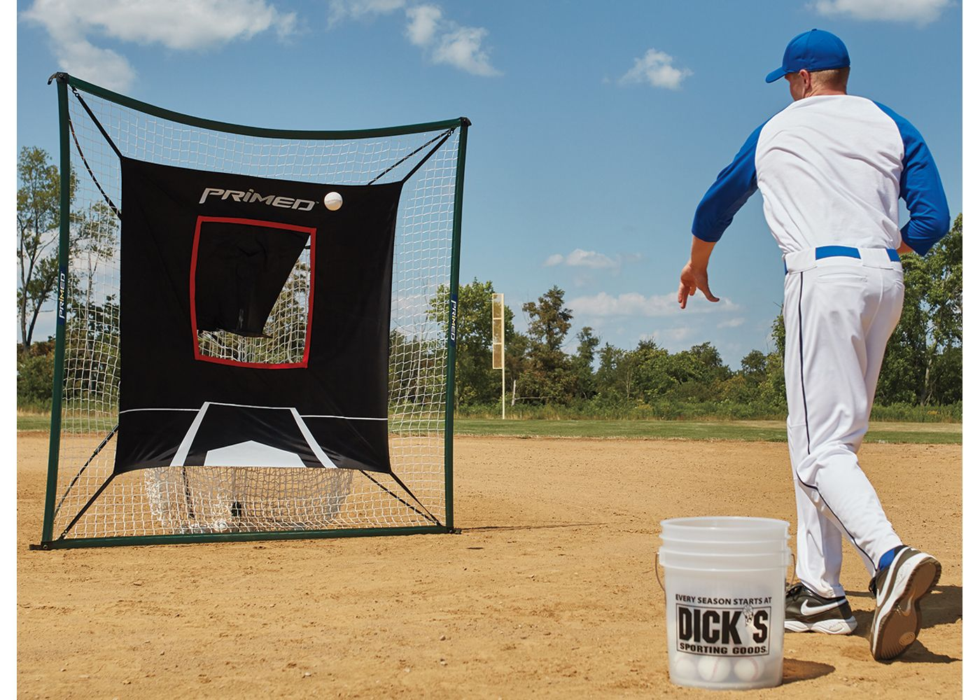 PRIMED 7' Instant Net and Pitching Trainer