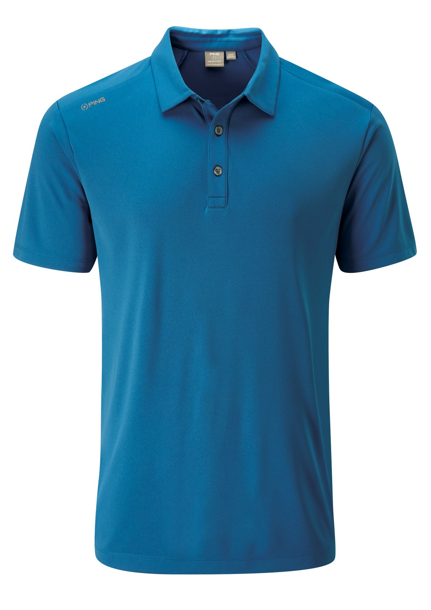 PING Men's Harrison Solid Short Sleeve Golf Polo