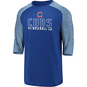 Fanatics Men's Chicago Cubs Royal Marble Three-Quarter Sleeve Shirt