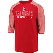 Fanatics Men's St. Louis Cardinals Red Marble Three-Quarter Sleeve T-Shirt