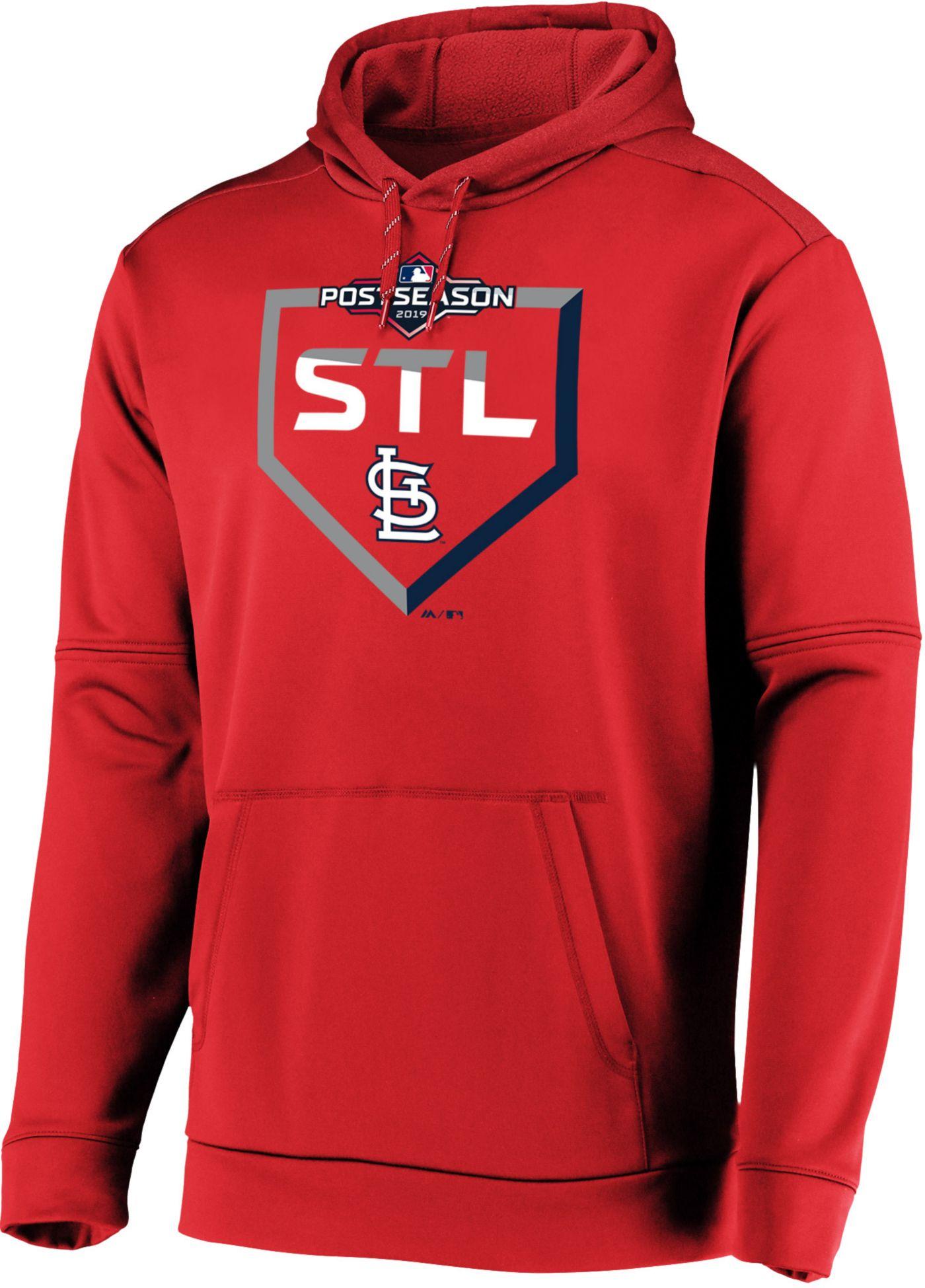 Majestic Men's St. Louis Cardinals 2019 MLB Postseason On-Field Therma Base Hoodie