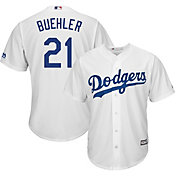 Majestic Men's Replica Los Angeles Dodgers Walker Buehler #21 Cool Base Home White Jersey