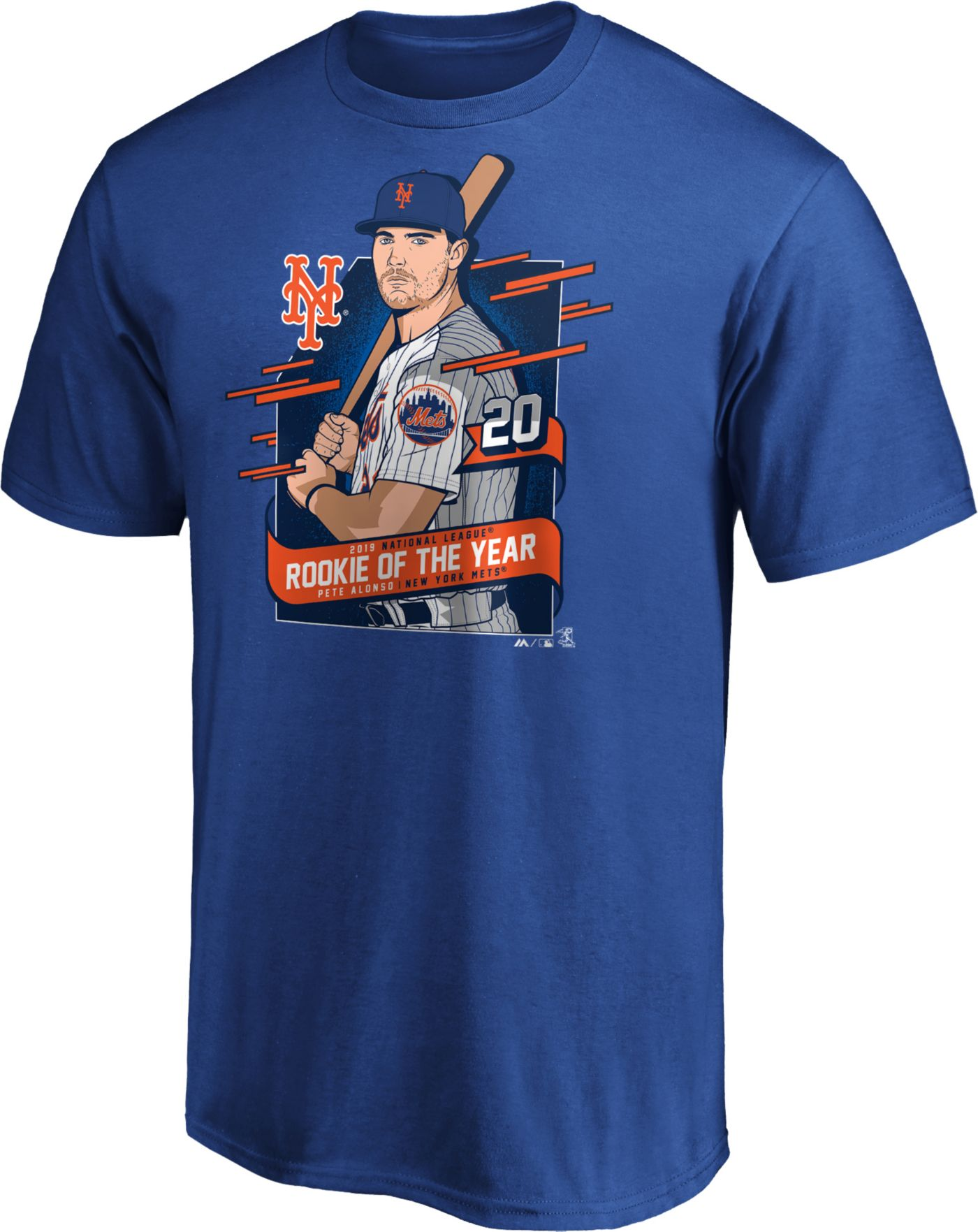 Majestic Men's New York Mets Pete Alonso Navy 2019 Rookie of the Year T-Shirt