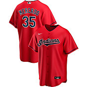 Nike Men's Replica Cleveland Indians Oscar Mercado #35 Red Cool Base Jersey