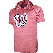 Stitches Men's Washington Nationals Red Pullover Raglan Hoodie