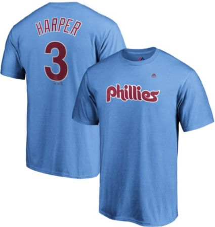 Majestic Men s Philadelphia Phillies Bryce Harper  3 Light Blue T ... 6ac814aeb23