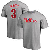 Majestic Men's Philadelphia Phillies Bryce Harper #3 Grey T-Shirt
