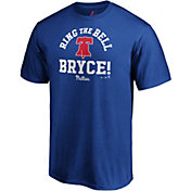 "Majestic Men's Philadelphia Phillies Bryce Harper ""Ring The Bell Bryce"" Royal T-Shirt"