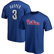 Majestic Men's Philadelphia Phillies Bryce Harper #3 Royal T-Shirt