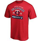 Majestic Men's Minnesota Twins 2019 AL Central Division Champions Roster T-Shirt