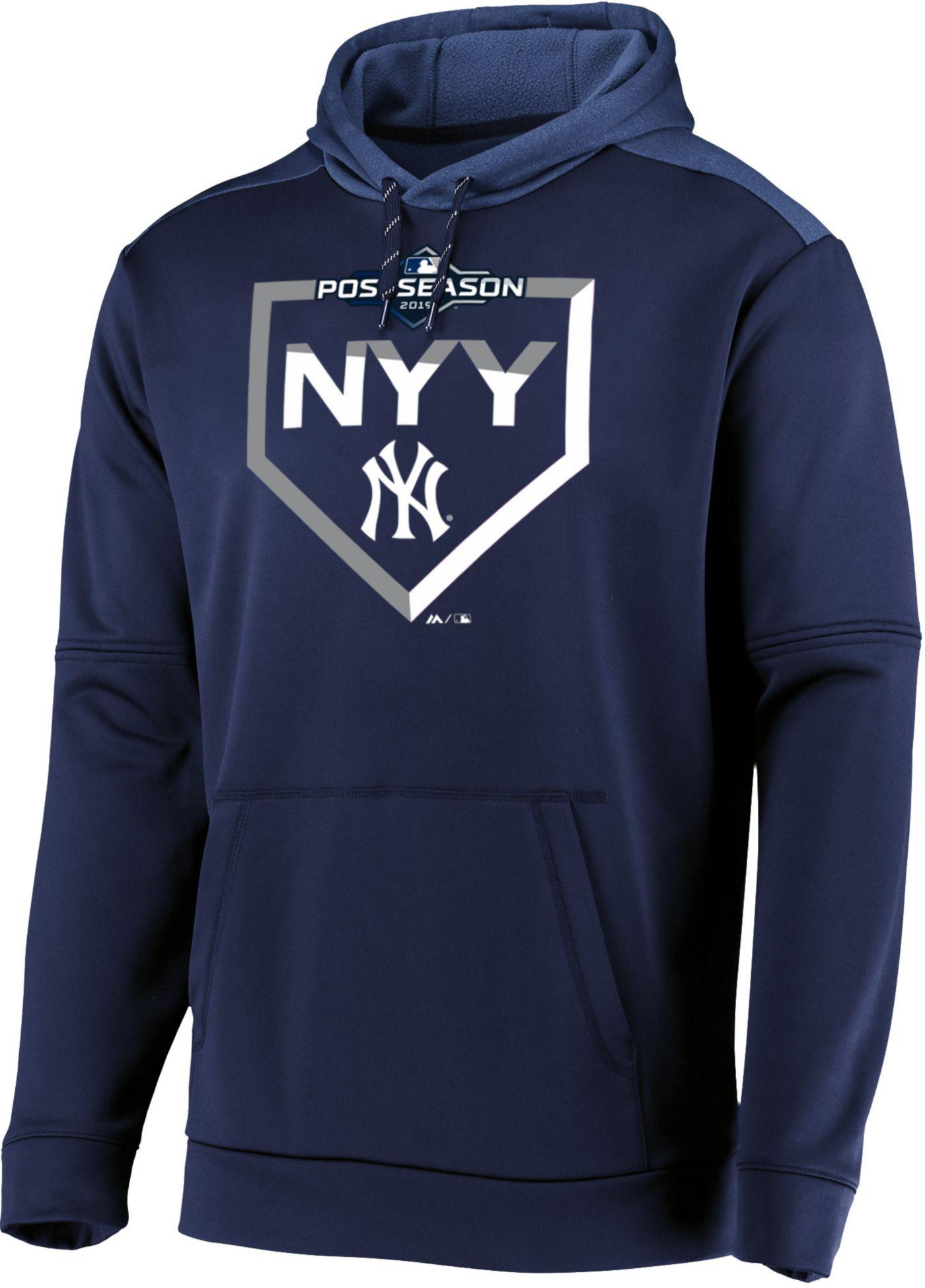 Majestic Men's New York Yankees 2019 MLB Postseason On-Field Therma Base Hoodie