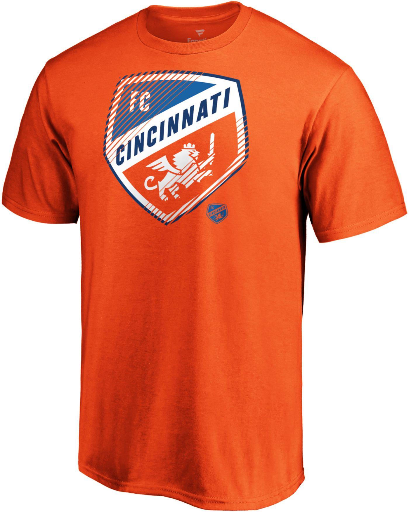 MLS Men's FC Cincinnati Slash Dash Orange T-Shirt