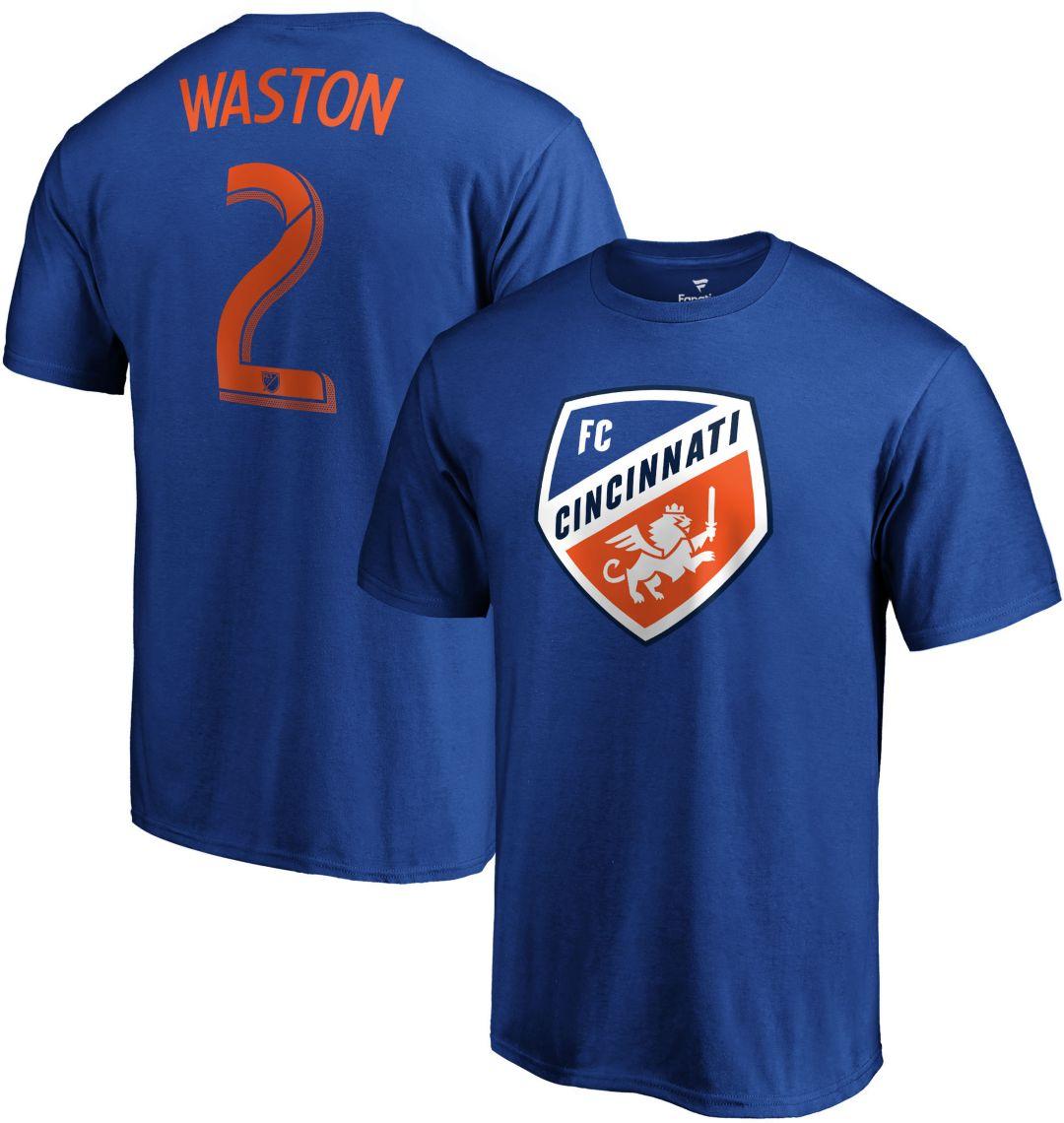 info for 9687a c1825 MLS Men's FC Cincinnati Kendall Waston #2 Royal Player T-Shirt
