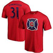 MLS Men's Chicago Fire Bastian Schweinsteiger #31 Red Player T-Shirt
