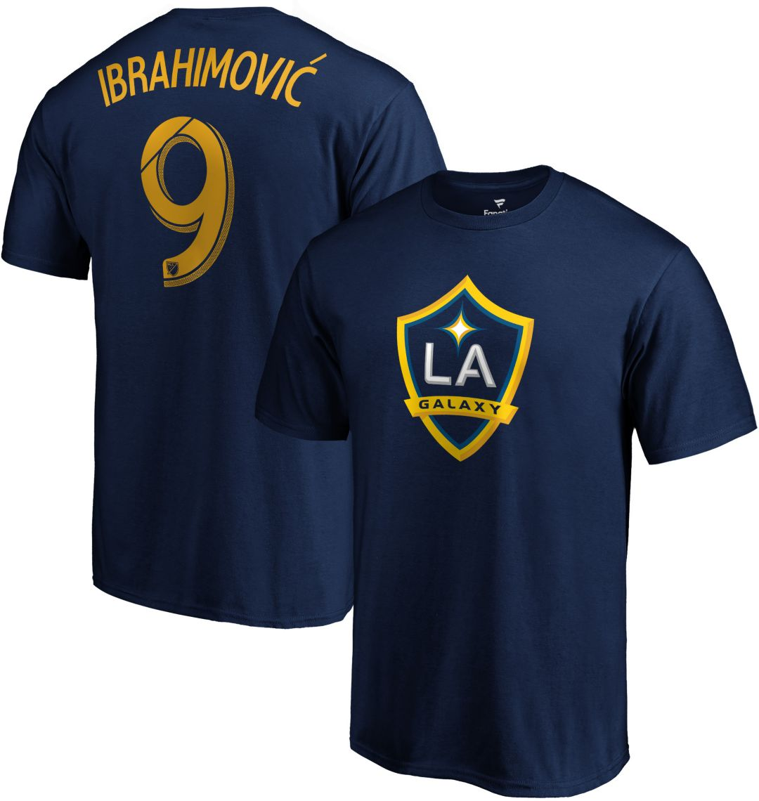 premium selection 46fb3 2e5cb MLS Men's Los Angeles Galaxy Zlatan Ibrahimovic #9 Navy Player T-Shirt