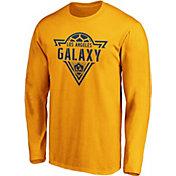MLS Men's Los Angeles Galaxy Iconic Phalanx Yellow Long Sleeve Shirt
