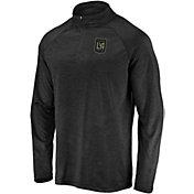 MLS Men's Los Angeles FC Logo Black Quarter-Zip Pullover