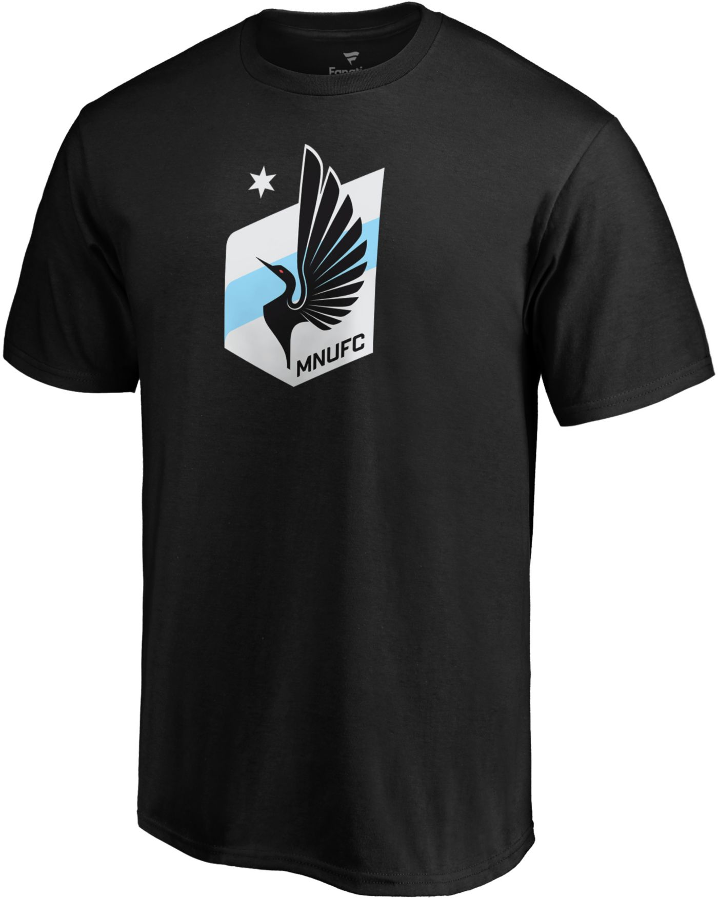 MLS Men's Minnesota United FC Logo Black T-Shirt