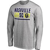 MLS Men's Nashville SC Echo Logo Grey Long Sleeve Shirt