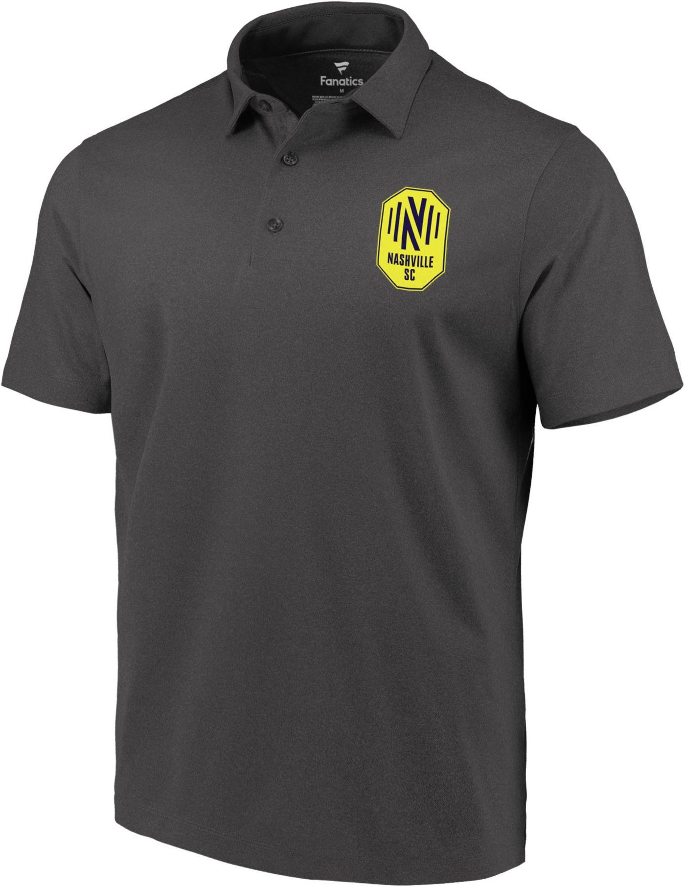 MLS Men's Nashville SC Echo Logo Grey Polo